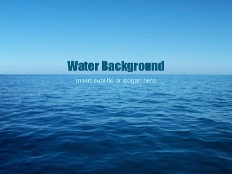 Blue Powerpoint Backgrounds Powerpoint Background Free Water