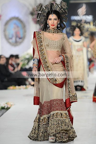 Ammar Shahid Bridal Lehenga Collection at Pantene Bridal Couture Week Naperville Illinois D4500 Bridal Wear