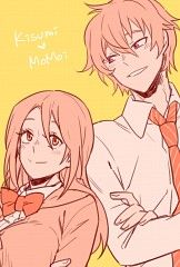 Pink-heads :3 Momoi (Kuroko no Basket) & Kisumi (Free!)
