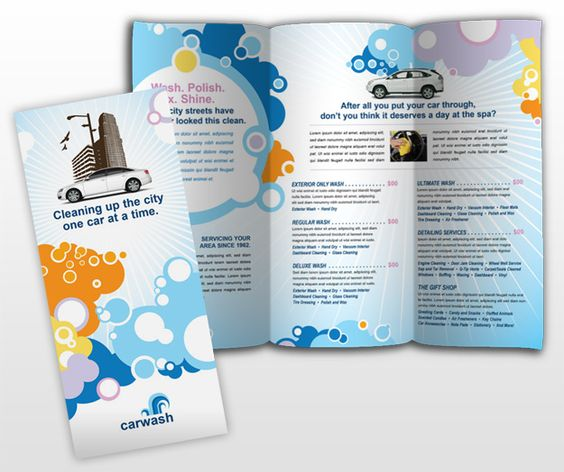 VehicleCleaningAndCareBrochureTemplate  Brochure Ideas