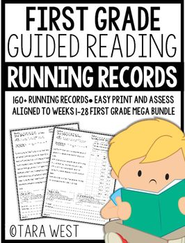 First Grade Guided Reading MEGA Bundle Running Records