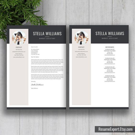 Professional Resume Template / CV Template Cover von ResumeExpert