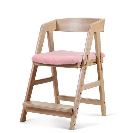 2平米 慧聰兒童學習椅 可升降調節少年實木椅子 學生椅吃飯餐椅