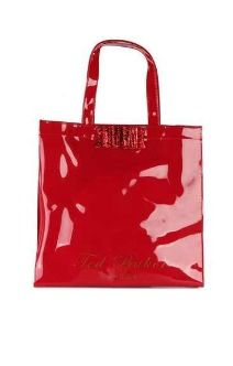 Ted Baker's Women's Twincon Ikon Glitter Bow Red Shopper Bag
