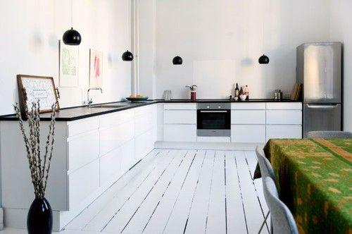 Kok Vitt Ek : kok ek och vitt  Vitt kok och vita golv For the Home Pinterest