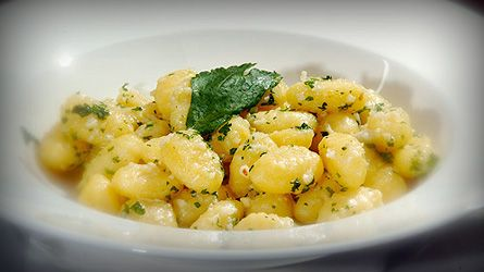 Gnocchi with sage and butter.: