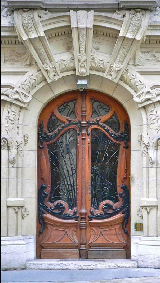Salantami Art Nouveau Doorparis Art Nouveau Unique Doors Doors