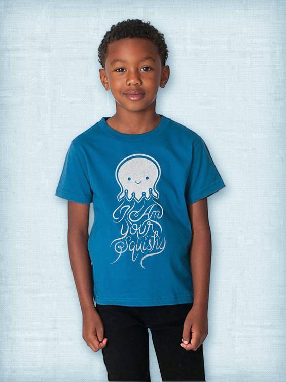 I Am Your Squishy - Finding Nemo - Finding Dory - Jellyfish - Organic Kids' Fine Jersey Short Sleeve T - Custom Screen Printed