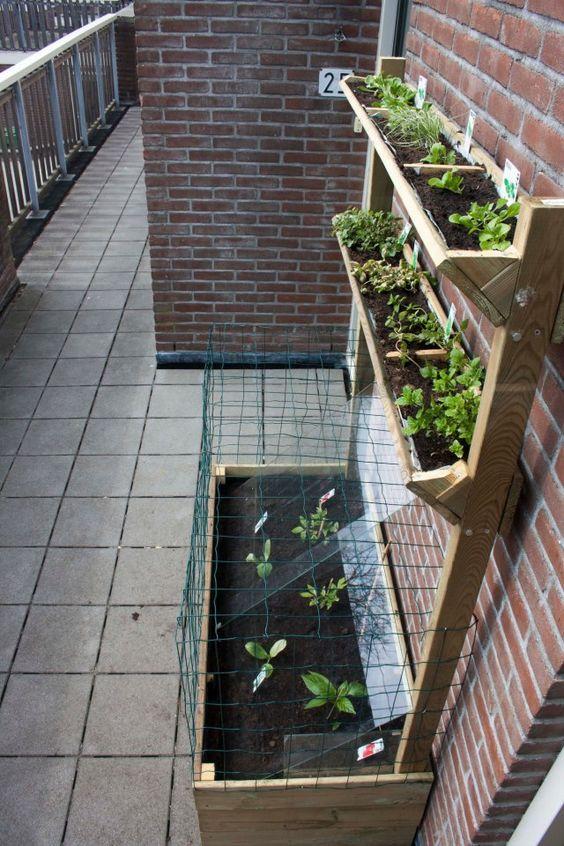 blumenkasten f r den balkon diy apartment garden boxes raised gardening pinterest. Black Bedroom Furniture Sets. Home Design Ideas