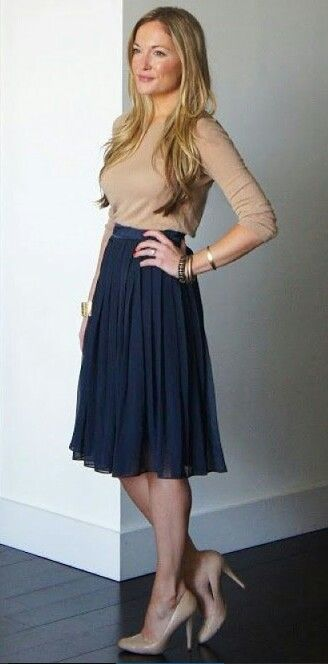 Navy with beige , great sceme