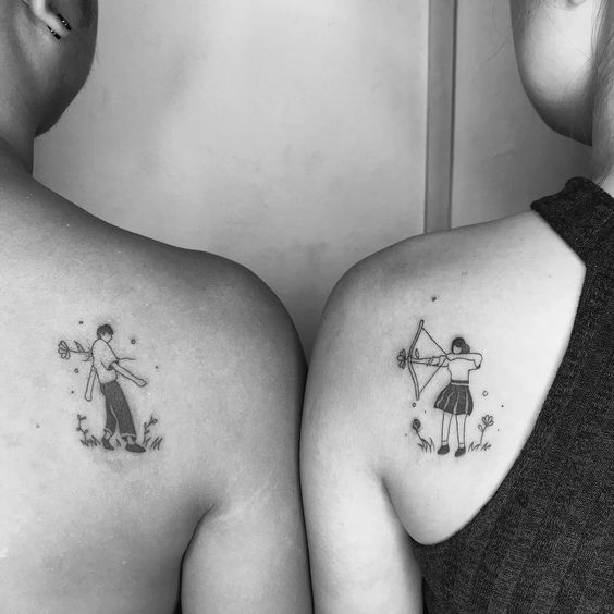 Cute comic tattoos - 27 Couple Tattoo Ideas Proving That Love Is Here To Stay - OurMindfulLife.com tattoo love couple/couple tattoos creative /couple symbol tattoos /couple initial tattoos /couple tattoos unique /tattoo couple wedding /romantic couples tattoos /couple tattoos infinity //matching tattoos for couple/matching tattoos for couples quotes/couple finger tattoo/couple tattoos king and queen/couple crown tattoo designs/couple tattoo ideas/ couple tattoo quotes