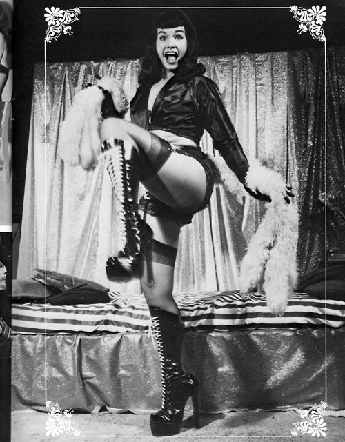 Bettie Page.  Love the boots!