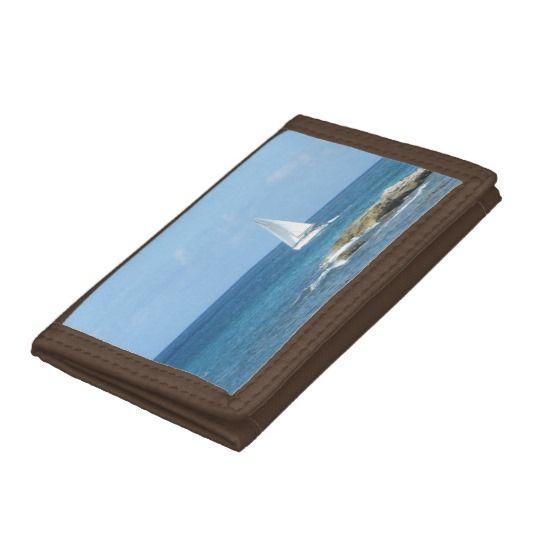 Sailboat in the Ocean Tri-fold Wallet #Smallbiz #Style #dww25921 #Shopping