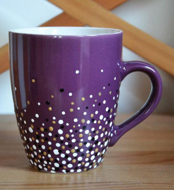 tassen bemalen f r eine fr hliche stimmung beim kaffee trinken weihnachten geschenke. Black Bedroom Furniture Sets. Home Design Ideas