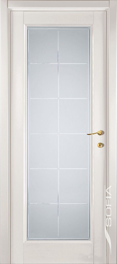 Белая со стеклом (можно на кухню)
