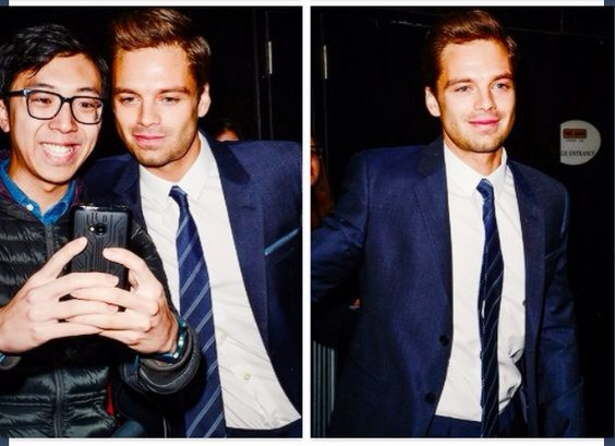 Sebastian Stan enters The GMA taping at the ABC Times Square Studios on April 4,2014 in New York City. Tumblr