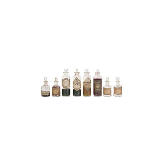 Eight Magical Potions and Bottles (€14) ❤ liked on Polyvore featuring fillers, harry potter, hogwarts, bottles, decor, backgrounds, embellishments, details, text and effect