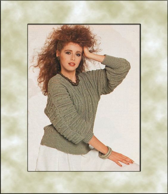 Instant Download PDF  Eighties Pattern to make by YesterdaysMagic