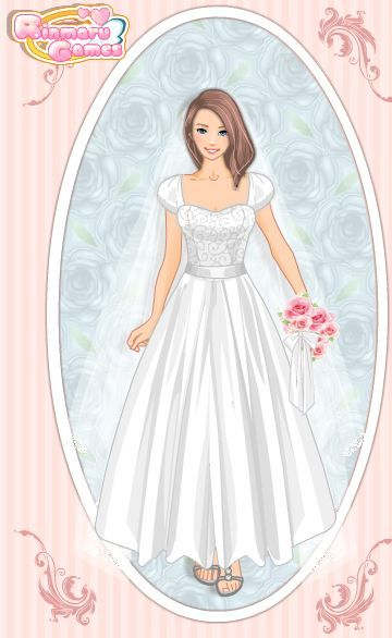 Very pretty and elegant. The site didn't give me as much freedom of design as I'd like, but it did give me some! Plus this bride doesn't look depressed. Very pretty.: