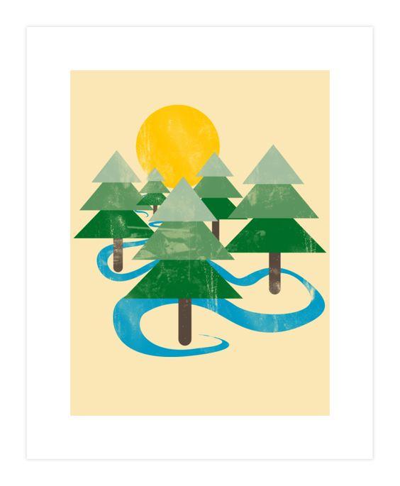 Minimalist Forest Art Print