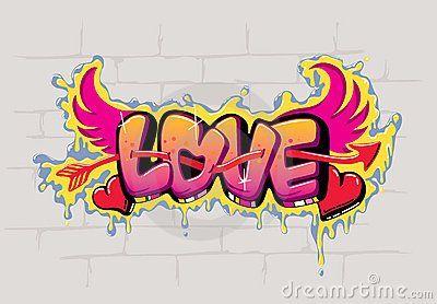Contoh Foto Gambar Wallpaper Grafiti Tulisan I Love You Angel Love Gambar Grafit Graffiti Art Ilustrasi Grafiti