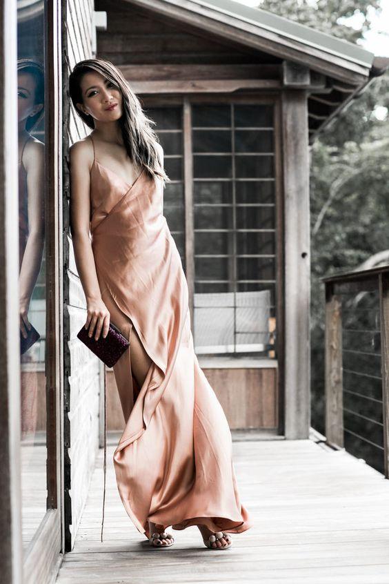 blogmixes: Blushing :: Wrap gown & Crystal clutch www.wendysl...