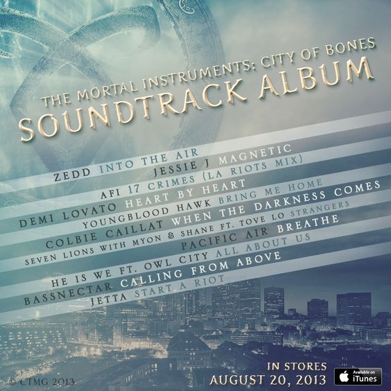 The City of Bones comes alive on the brand new soundtrack. Ger your first listen to songs from Demi Lovato, Zedd and Colbie Caillat on the official Mortal Instruments tumblr!