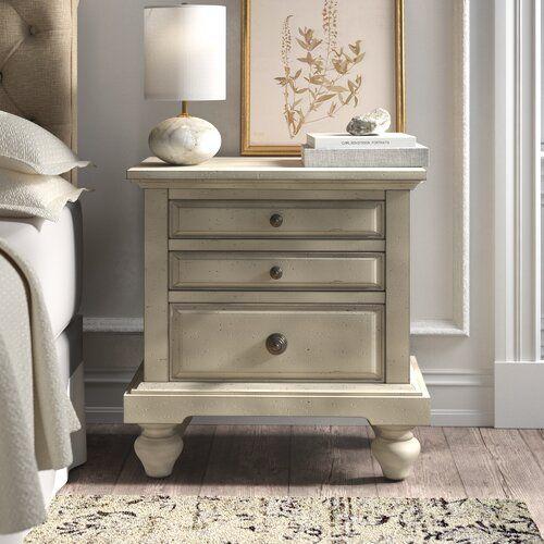 29++ Farmhouse 3 drawer nightstand model