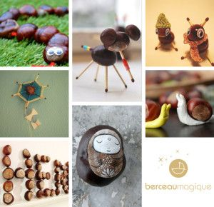 7 bricolages à faire avec les marrons | Berceau Magique