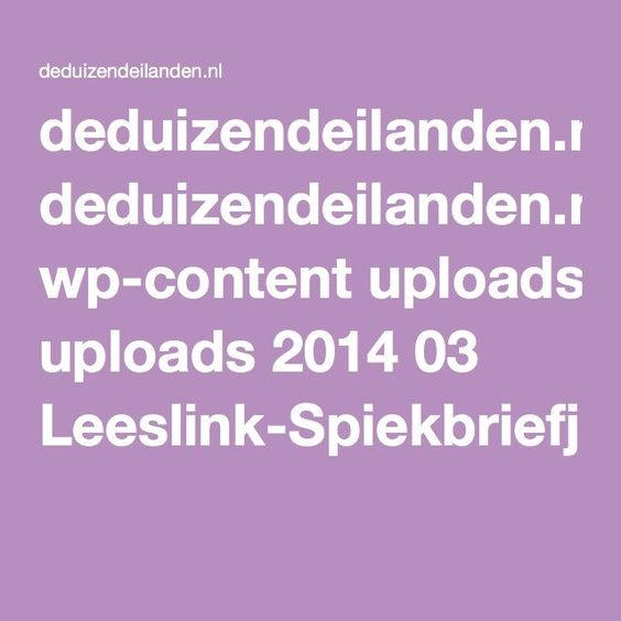 deduizendeilanden.nl wp-content uploads 2014 03 Leeslink-Spiekbriefjes-niveau-3-Groep-7-8-1.pdf