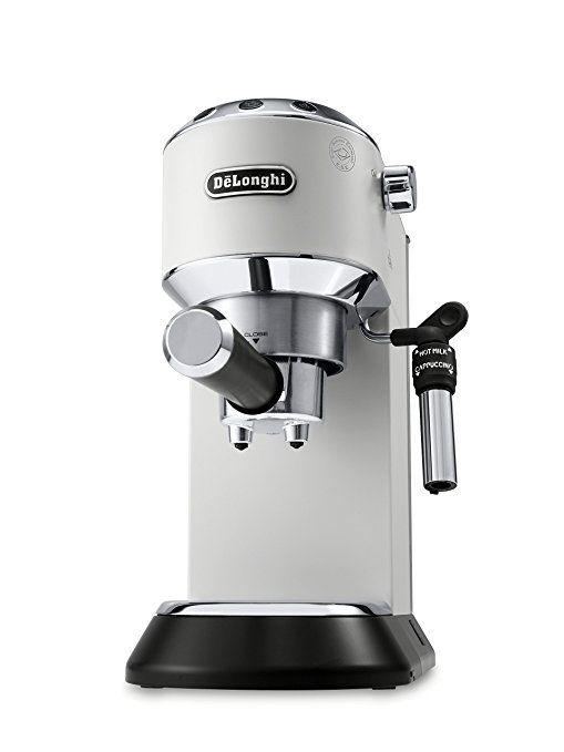 Amazon Com Delonghi America Inc Ec685w Dedica Deluxe Espresso White Home Kitchen Espresso Machine Design Espresso Machine Espresso Machine Reviews
