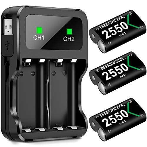 Controller Battery Pack For Xbox One 3x2550 Mah Rechargeable Battery Pack With Charging Stati Xbox One Elite Controller Rechargeable Batteries Battery Charger