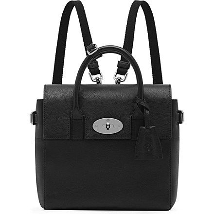 MULBERRY Mini Cara natural leather backpack (Black