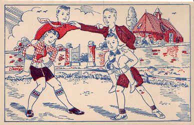 Jongensspel. Designer onbekend. Kaart heeft niet gelopen. Zie www.postersquare.com categorie 008