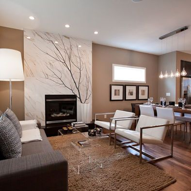 Living room mocha design pictures remodel decor and Media room paint ideas