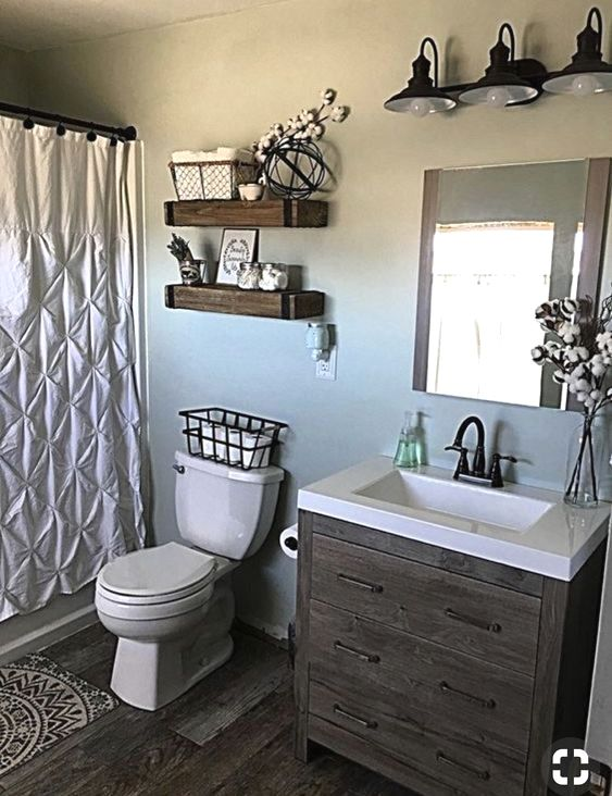 Though The Bathroom Is The Tiniest Room In Our Home The Majority Of The Instances It Is Ser Bathroom Makeovers On A Budget Small Bathroom Decor Bathroom Decor