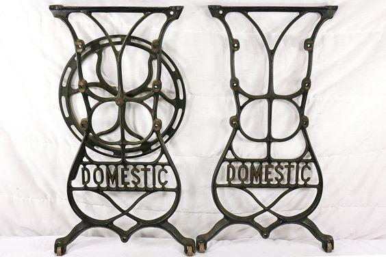 Antique Cast IronTable Legs; Domestic Treadle                              (265) #Domestic