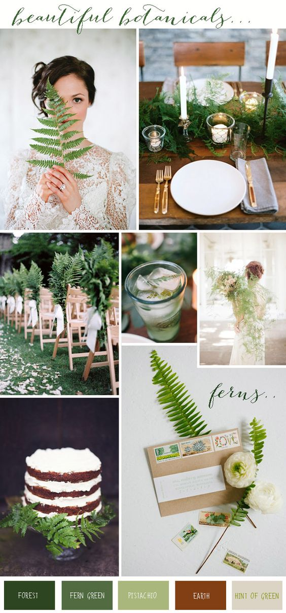 Beautiful Botanical | Wedding Inspiration & Ideas: Ferns - Want That Wedding