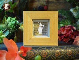 White Rabbit - Original Papercut by PaperPandaCuts