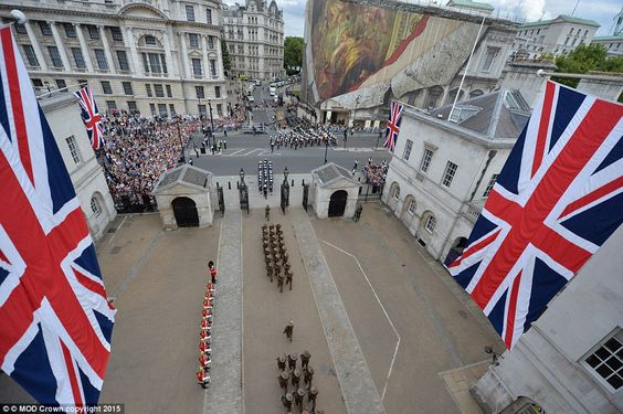 Troops marched through the streets of London, much to the delight of the tourists and residents who had been waiting for hours to see the parade