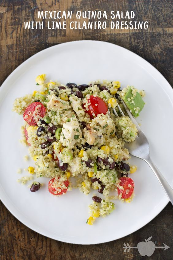 Mexican quinoa salad, Lime cilantro dressing and Mexican quinoa on ...