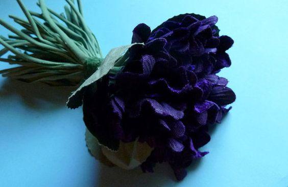 Purple Violet Velvet Millinery Flowers for Hats by MaryNotMartha, $17.50