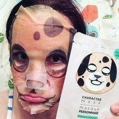 Wash face, put on mask, force significant other to put on mask, take hilarious selfies. Repeat.