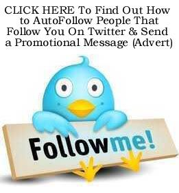 How to Auto-Follow People That Follow You on Twitter & Auto-Send Them a Welcome Message http://fiverr.com/chivvy/show-you-how-to-auto-follow-on-twitter-and-auto-send-a-welcome-message