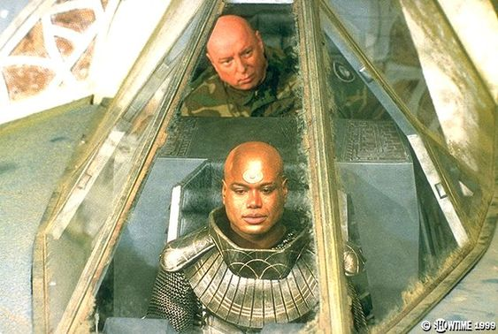 """Gen. Hammond and Teal'c prepare to """"thread the needle"""" in 'Into the Fire'"""