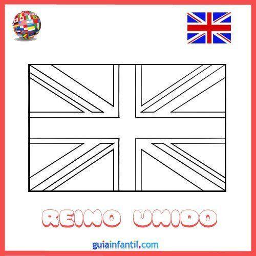 Dibujos De Banderas De Paises Para Colorear Con Los Ninos Bandera De Londres Bandera Para Colorear Bandera Dibujo