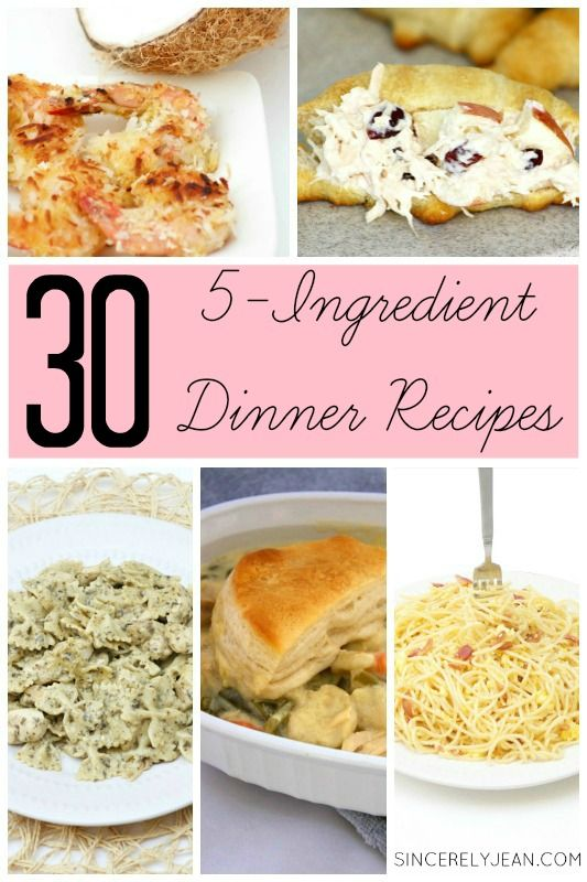 Quick and easy 5 ingredient dinner recipes