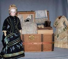 "Exceptional 16"" Bru Lady - Trunk, Wardrobe, Museum Provenance"