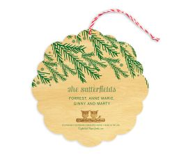 Night Owl Paper Goods | Personalized Holiday Cards | Pine Joy Ornament
