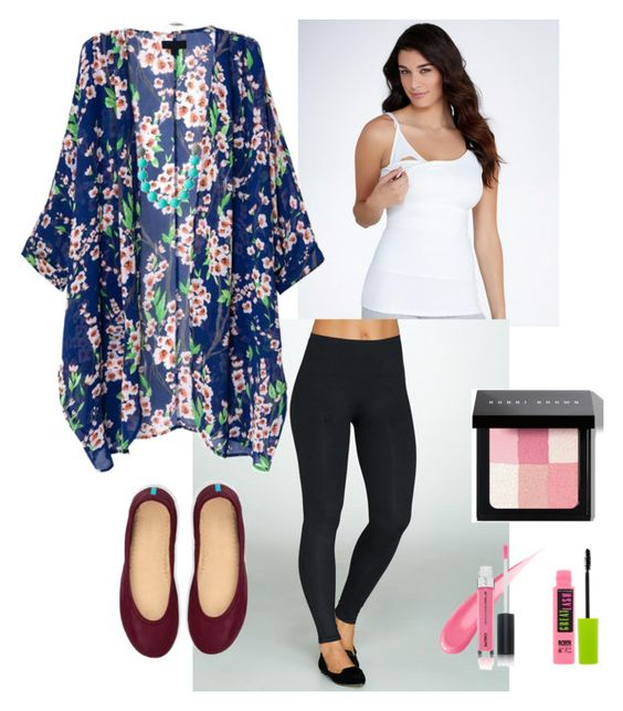 """""""4th trimester: Nursing outfit"""" by juliffthegirl ❤ liked on Polyvore featuring Yummie by Heather Thomson, SPANX, Tieks, Bobbi Brown Cosmetics, Maybelline, ootd, breastfeeding and tieks"""